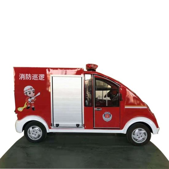 Fire Patrol Mini 2 Seats Electric Fire Truck Mounted with Motor Fire Pump (Portable pump)