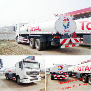 HOWO 20, 000 Liters Oil / Fuel Transport Tanker Truck
