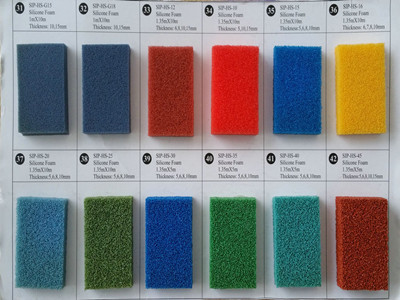 silicone sponge rubber sheet blue open cell-038_副本