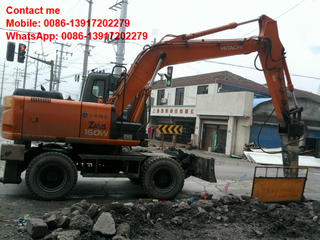Used Hitachi ZX160WD wheel excavatoron sale in Shanghai