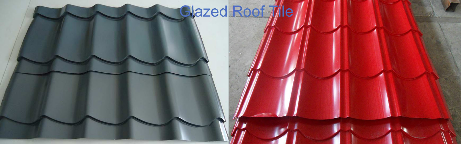 Glazed roof tile