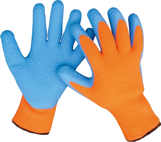 LATEX COATED GLOVES WARM GLOVES