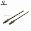 Abrasive Tube Brushes with Flat Steel Stem for Drills