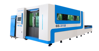 Close Type CNC Fiber Laser Cutting Machine With Exchange Table