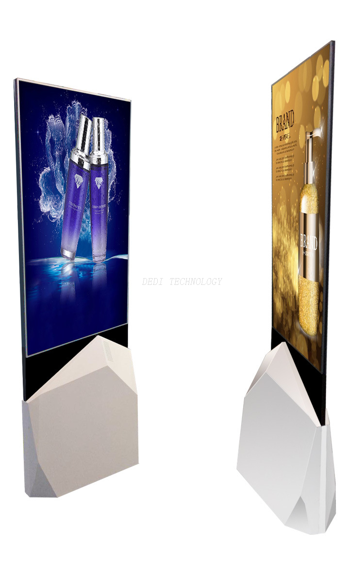 Dedi 55″ Double Sided OLED Standing Digital Signage in Tempered Glass