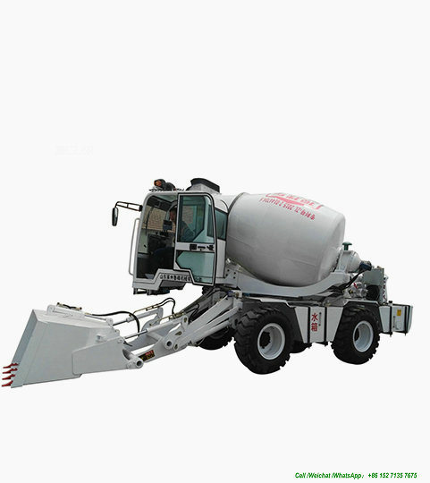 Luzun Self Loading Concrete Mixer Truck 2.6m3 -3cbm (Self Loading Cement Mixer Truck With Air Conditioning Self Loading Automatic Weighing Scale)