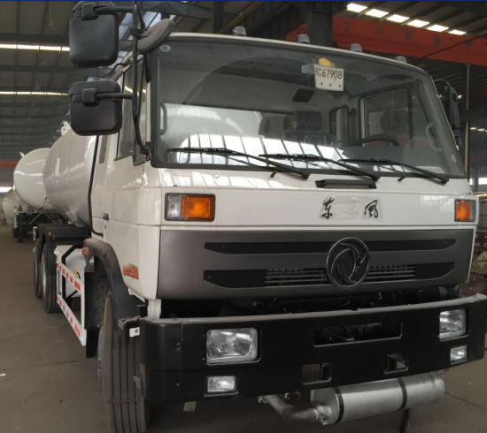 Dong Run LPG Bobtail Truck 20, 000liters Bulk Cooking Gas 10 Wheels Drive