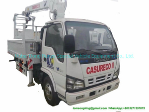 Brand Japan Crane Truck with Bucket Lift for Electric Companies with I. S. U. Z. U Engine 4kh1