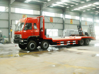 Hot Sale 31t 8X4 Construction Carring Excavators Flatbed Truck for Sale