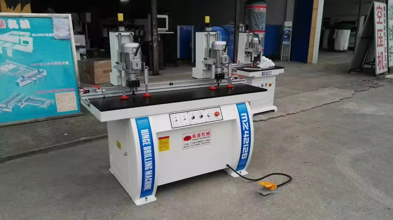 Foshan Mingji Woodworking hinge drilling machine ready for shipment