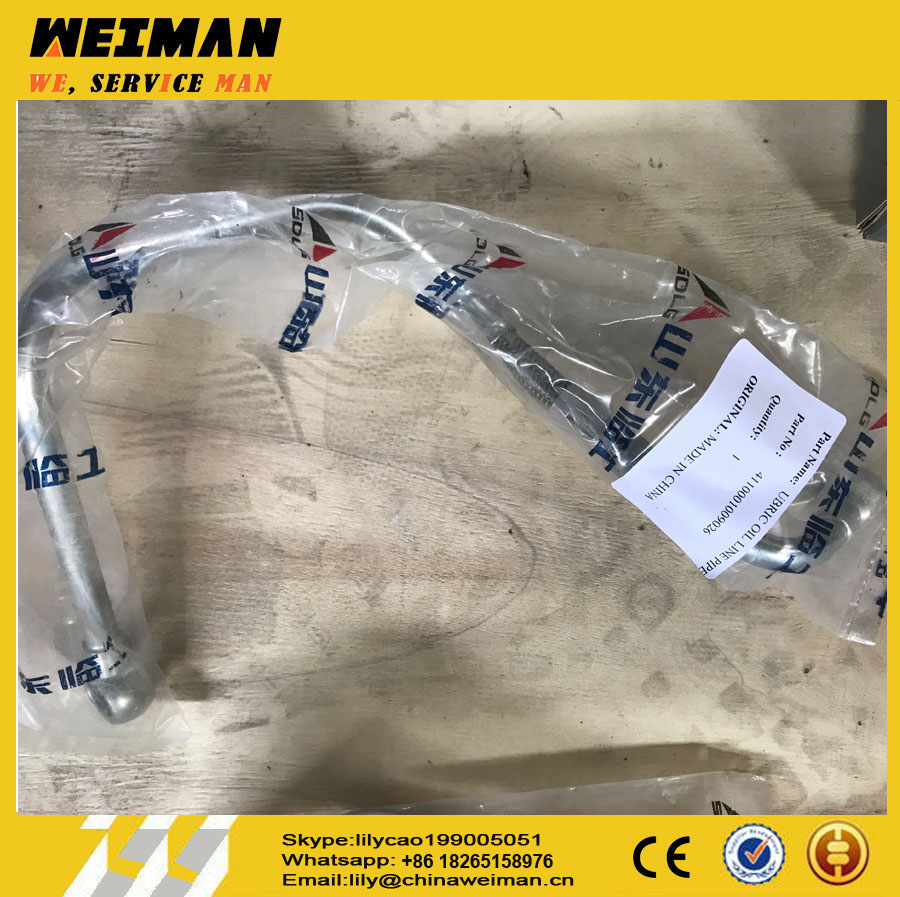 4110001841009 engine spare parts Oil pipe/RETAINER OIL LINE PIPE for SDLG loader turbocharger