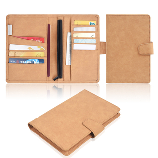 Factory Wholesale Practical Custom Travel Passport Holder Leather Passport Cover Case Made With Pu Leather Card Slots