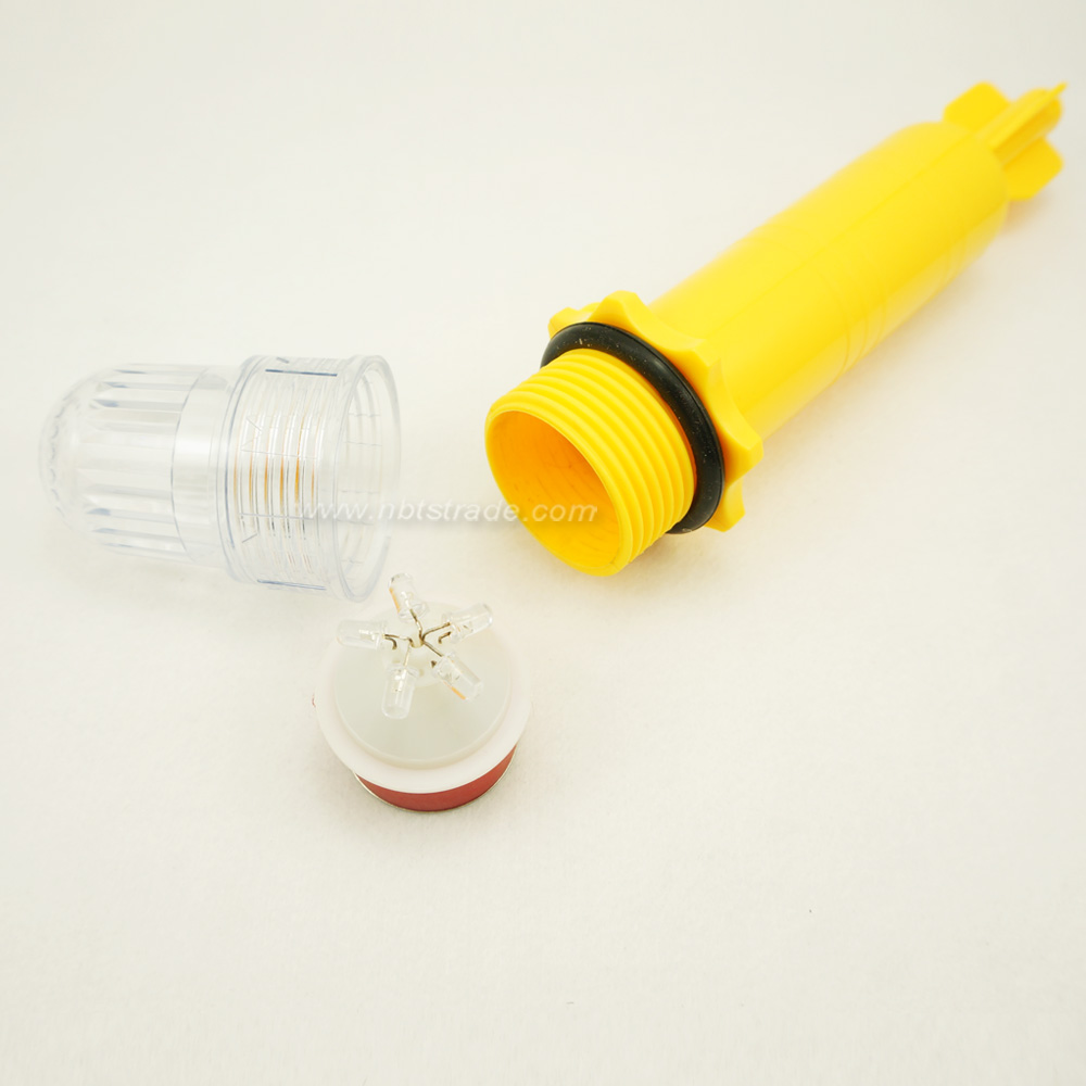 2D battery operated LED Flash fishing net light for beacon
