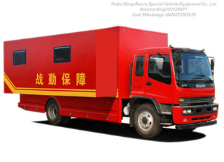Ftr Camp Truck Vehicle Isuzu for 24 People Outdoor Mobile Camping Customizing