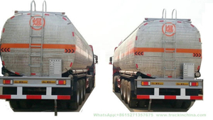 Stainless Steel 304 Food Oil Tanker Semi-Trailer 3 Axles Tank Capacity 45000L to 52000L Shell Polished