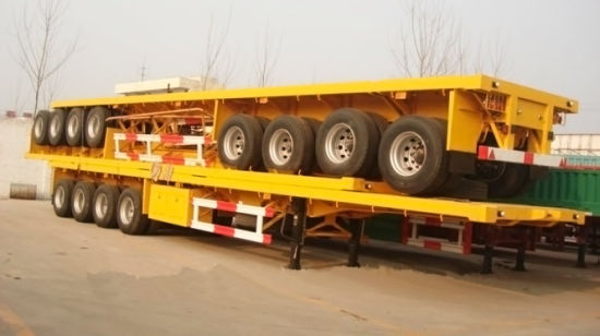 Container Trailer Flat Bed Semi-Trailer 4 Axle, 50t /60t