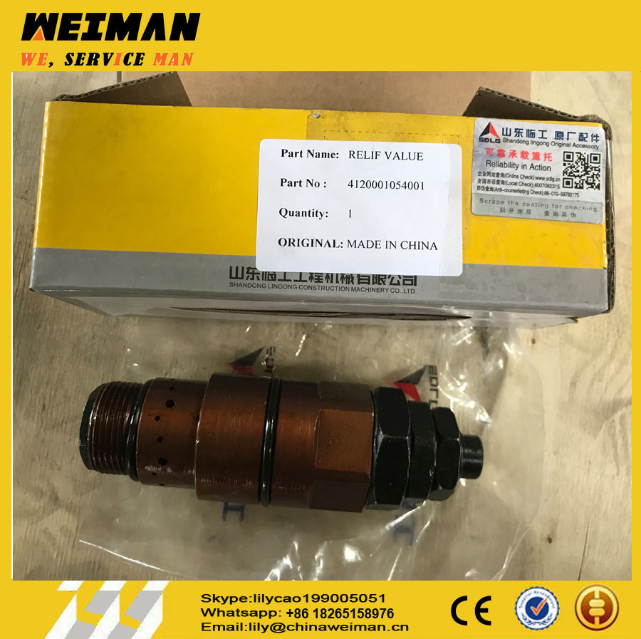 Sdlg Spare Parts 4120001054001 RELIEF VALVE D32.2a-00 for LG958 WHEEL LOADER