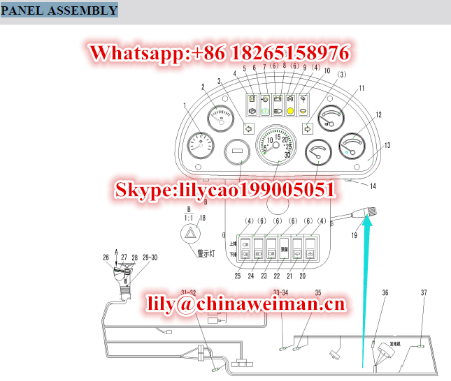 Sdlg COMBINED SWTICH LG13-ZHK 4130000021 for LG956L Wheel Loader Parts