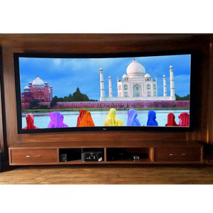 China Curved Fixed Projection Screen with HD flexible Grey Fabric 140'' (2.35:1)