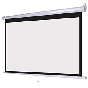 100'' Manual Wall Projection Screen Pull Down Projector Screen 16:9