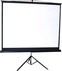 96 inch freestanding tripod projection screen for outdoor&indoor