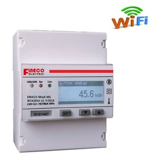 Fineco din rail single phase wifi energy meter (wifi inside)