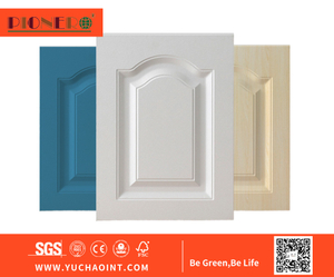 Kitchen Furniture Parts 18mm PVC Vacuum MDF Kitchen Cabinet Door