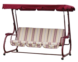 Iron Steel Frame Patio Swing Set
