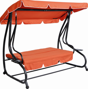 Iron Steel Frame Swing Chair Swing Bed With Two Pillows