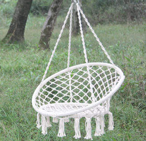 Cotton Rope Hanging Children Garden Chair