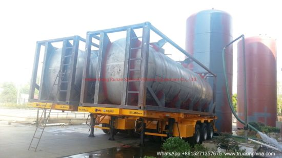 Swap ISO Tank Container Stainless Steel Heavy Duty for Used for Acid, Chemicals, Edible Oil, Liquid Food, Acetic Acid, Boric Acid, Milk, Alcohol Tansport