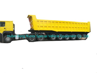 6 Axles Trailer Tipper 80ton-100ton Heavy-Duty for 100 Ton Mangenese and Bauxite Ores Transport