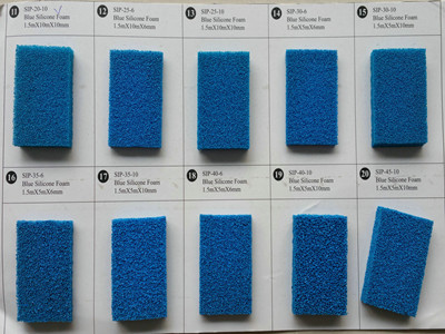 silicone sponge rubber sheet blue open cell-037_副本