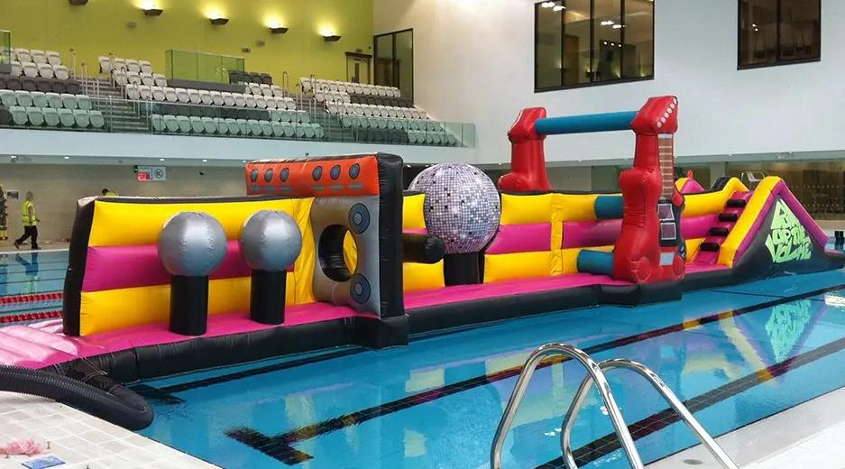 Inflatable Aqua Run Water Obstacle Game For Kids