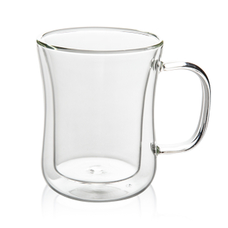 GD0508 Double Wall Heat Insulation Glass Coffee Mug