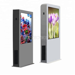 "Outdoor stand 65"" newspaper advertising equipment with digital color screens"