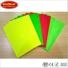 Fluorescence Printed EVA Foam Sheets