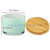 wholesale flat bottom glass candle holder for home and party