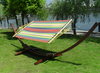 3.5M Poly Cotton Hammock With Arc Wooden Frame