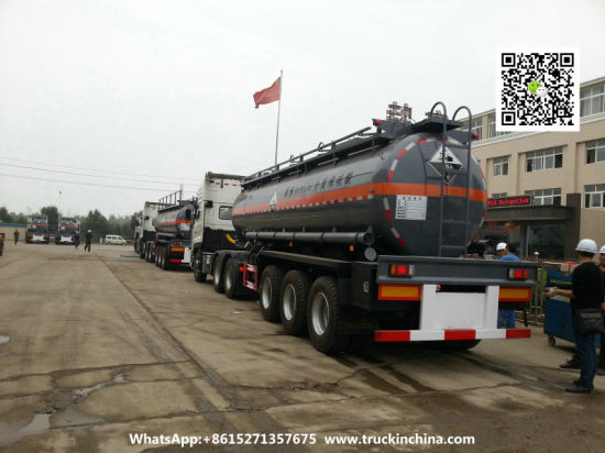 6000USG-10000USG Dilute Sulfuric Acid Tanker (3 Axles Chemical Liquid HCl, Hf, Naoh, Naclo, H5no, H2so4, H2O2 Tank)