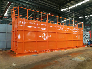 HCl Acid Tanks-Skid Mounted Lined PE Closed Top 500 Bbl Frac Tank Type of Tanks for Onsite Acid Supply and Holding Ease of Transportation
