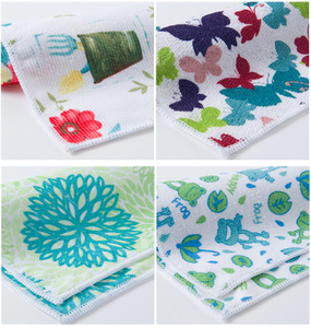 Microfiber Printed Dishcloth Kitchen Countertop Cleaning Towel Can Be Customized Printed Dishtowel Wipe Tablecloth