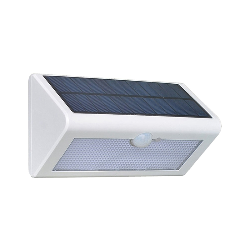 Waterproof Solar Powered LED Solar Garden Lamp Motion Sensor 48 LEDs Metal Wall Decoration Light