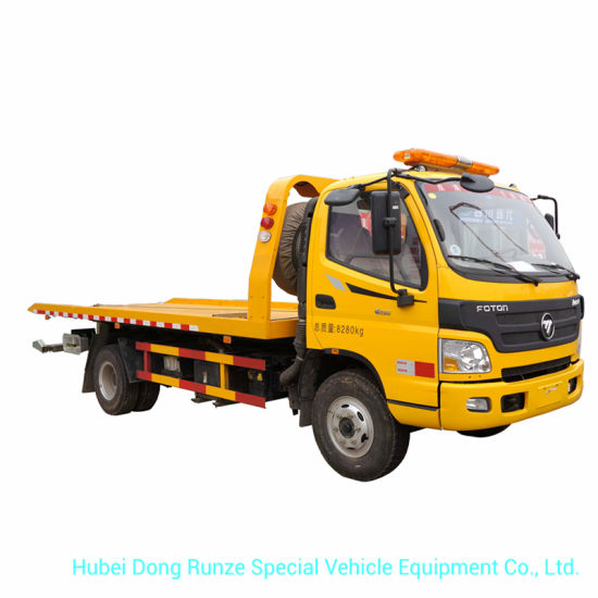 Foton Recovery Roll Back Flatbed Wrecker or Wheel Lift Wrecker with Broken Car Carrier for Towing Truck 5ton Optional 4X4 Offroad Awd Integrated Lift 3ton