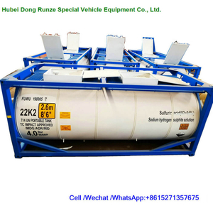 T14 Sulfuric Acid Tank Container Steel Lined LDPE