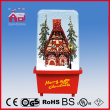 (P16029M) Small House Flying Snow Decoration Christmas Gift