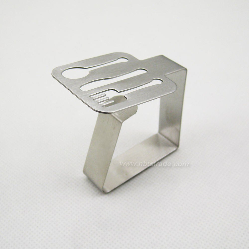 4PK Decorative Table Cloth Stainless Steel Clamp