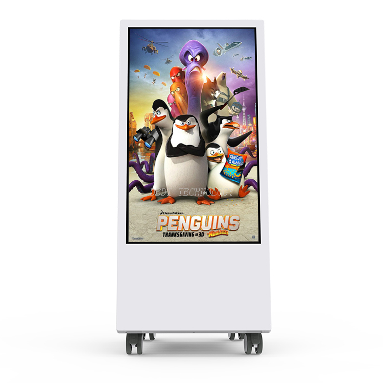 32 inch Stand Alone multadvertising Display windows touch screen Digital Signage with battery powered