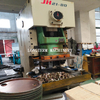 Hole punching& flange locking machine