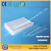 Integrated 96-well quartz microplate for microplate reader